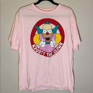 Pink Krusty the Clown Short Sleeve T-Shirt